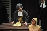 Dillon DiSalvo '10 as Deputy Gov. Danforth and Tai Coates '11 as Mary Warren