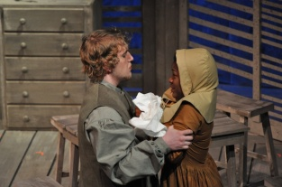 Patrick Steeger '11 as John Proctor & Tai Coates '11 as Mary Warren