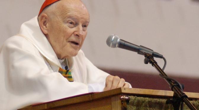 Cardinal McCarrick celebrates mass at McNamara
